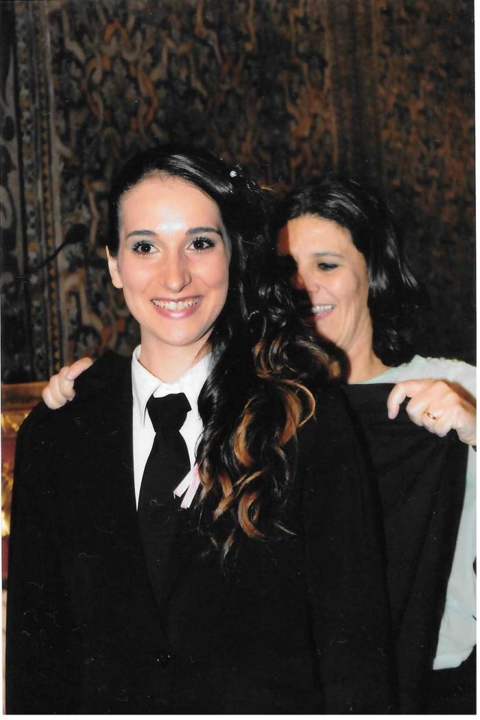 Carolina Gonçalves, ex-aluna do curso de Técnico de Apoio à Infância, triénio 2011-2014