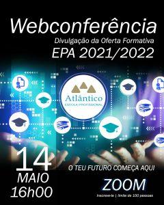 Webconferência - Divulgação da Oferta Formativa 21/22